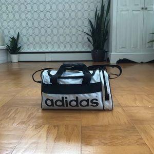 Adidas White Workout Bag
